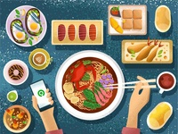 Gofood Food Illustration