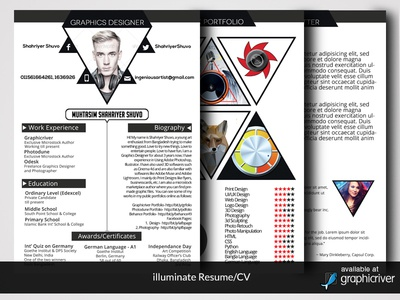 Kick Ass Resume Illuminate Resumecvingenious Artist  Dribbble