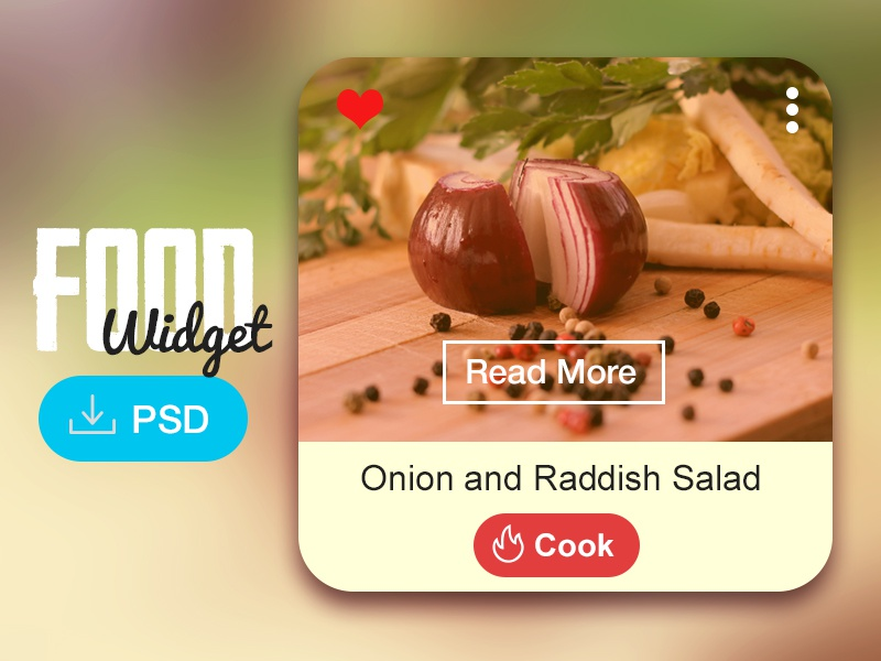 Food Widget (Freebie) food widget psd free download freebie ui ux cooking foodie web read
