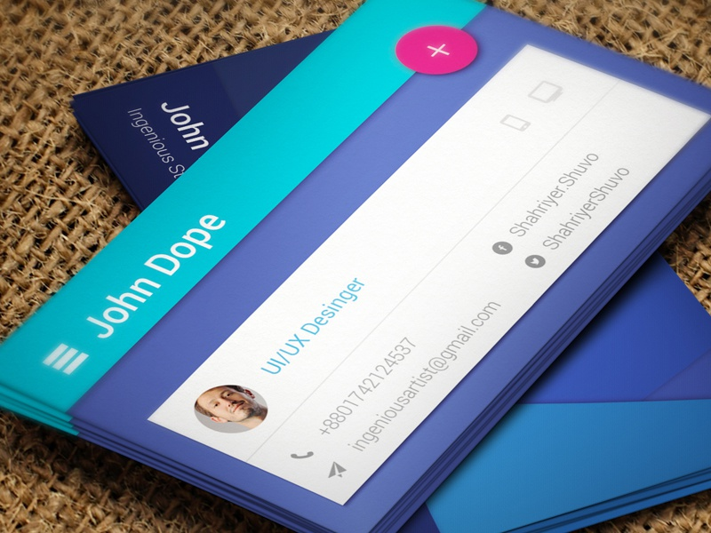 Paper Material Business Card By Ingenious Artist On Dribbble