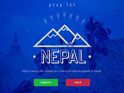 Pray for Nepal pray nepal earthquake donate help charity disaster releaf mountain himalaya vintage logo