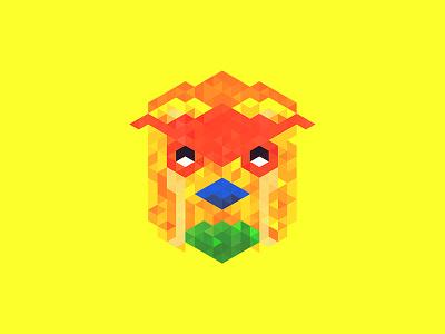 Pohela Boishakh 1423 miami hotline triangles hexels low poly trixel mask chicken bangladesh bangla new year bengali