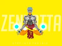Zenyatta Pixel Art - Overwatch