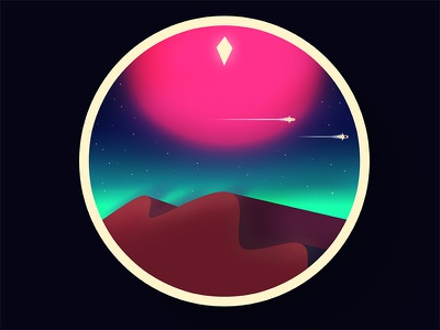 Which Man's Sky is dis? race game alien planet spaceship stars galaxy space minimal illustration fanart no mans sky