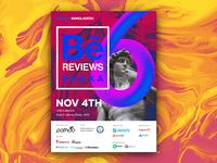 BeReviewsDhaka - Poster marble textures event behancereviews vaporwave illustration poster adobe dhaka reviews portfolio behance branding