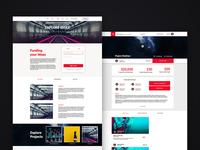 Crowdfunding Website Concept remote work freelance ideas red kickstarter minimal uidesign uiux ui webdesign design website crowdfunding