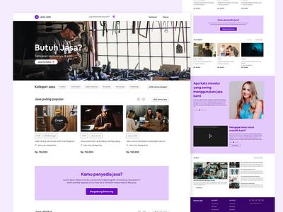 Jasa Joni - Service landing page explore weblanding homepage servicelandingpage webdesign landingpage uiuxdesign uiux ui