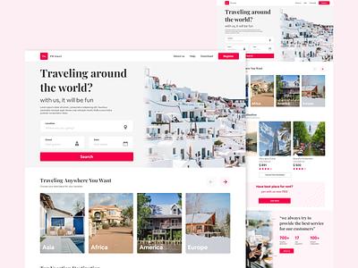 Travel Landing page travel landingpage uiux webdesign uidesign weblanding explore