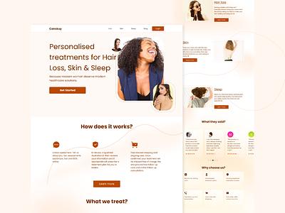 Woman Grooming Landing Page uidesign homepage weblanding exploration webdesign landingpage ui design ui