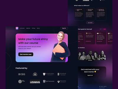 Bimbels - online course landing page ui design uiux exploration homepage weblanding uidesign webdesign landingpage