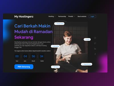 My hostingerz - web hosting design branding explore ui design uiux exploration weblanding uidesign webdesign landingpage