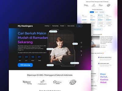 My hostingerz - web hosting uidesigner branding explore ui design uiux exploration weblanding uidesign webdesign landingpage