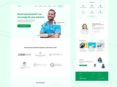 Docall - Health online consultation exploration uiux weblanding explore animation medicare webdesign medical medicine landingpage uidesign ui healthy health