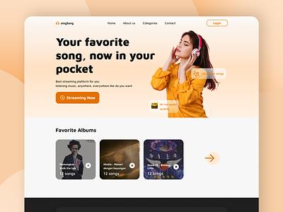 singSong - music streaming landing page exploration webdesign uidesign weblanding landingpage musicstreaming streaming music