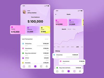 Money manager app ewallet moneymanager appdesign exploration uidesign uiux branding graphic design ui