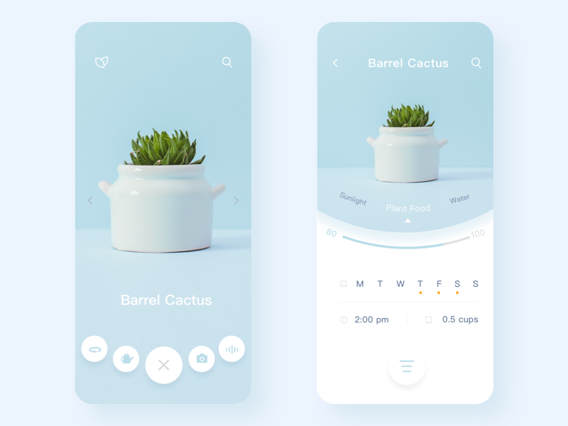 Plant APP ux ui mobile page icon app design