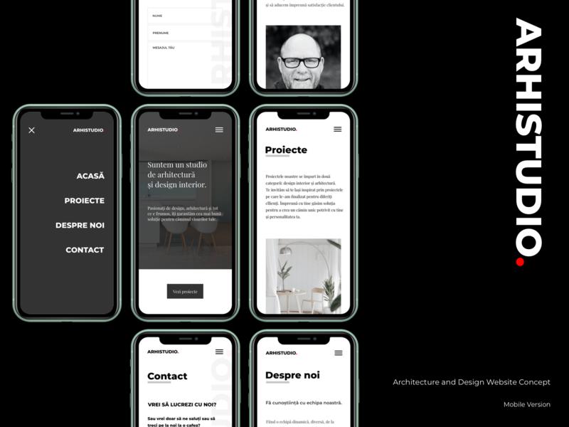 Concept Website Design - Mobile