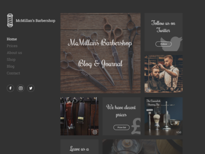 Barbershop Website Concept