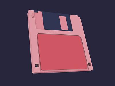 1.2: Modelling: Floppy Disk retro floppy disk floppy floppydisk motiondesign cinema4d 3dart 3d