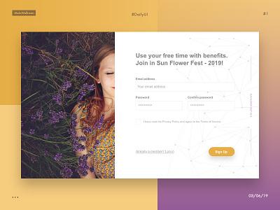 DailyUI -  registration form (#1) register form 1 designer practise dailyui design