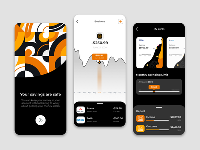 Finance app - Mobile app financial app finances clear bank card banking app financial finance app fintech finance app app design clean clean design clean ui uxdesign uidesign ux design ux ui design ui