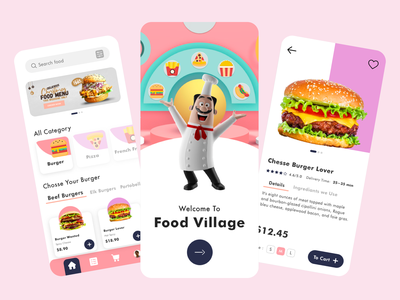 Food Delivery - Mobile App mobile design mobile app mobile ui food delivery food delivery application food delivery service food delivery app delivery app food app food app design app clean ui clean uxdesign uidesign ux design ux ui design ui