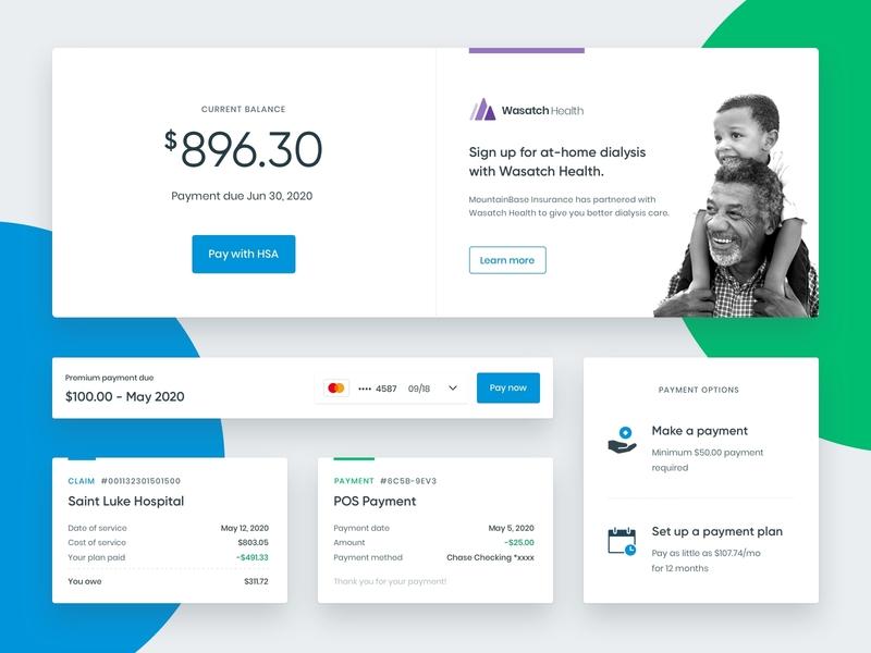 Dashboard component exploration icons desktop healthcare product design ui cards web dashboad app