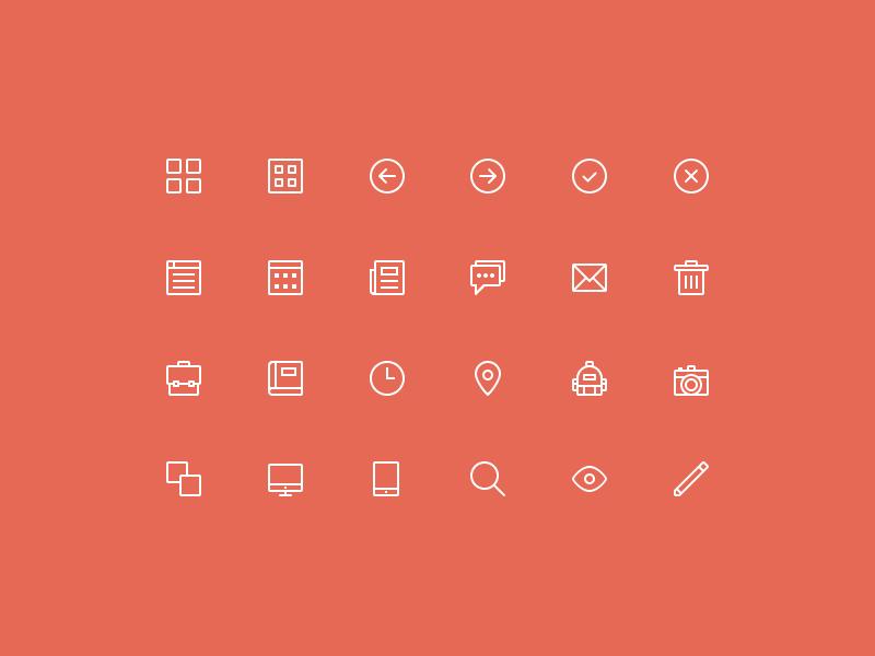24 skinny icons