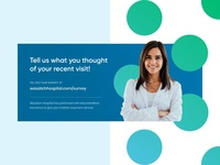 Provider post-care survey hospital promotion survey branding design print healthcare statement bill