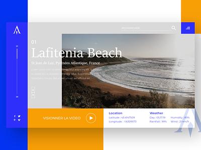 Atlas Travel landscape ux france surf beach travel homepage logo flatdesign design prototyping webdesign ui desktop