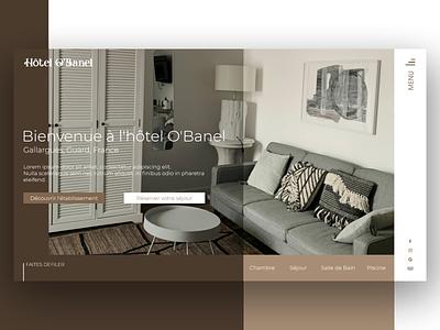O'Banel Hotel hotel travel homepage flatdesign design prototyping webdesign ux ui desktop