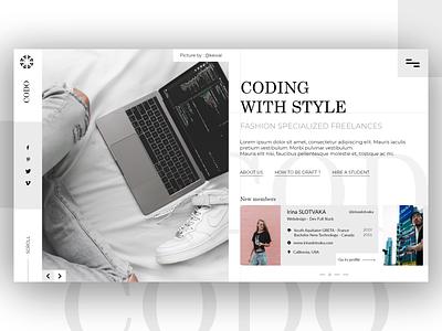 Codo Recruitment hypebeast user interface user interface development code members style recruitment platform hype logo homepage design webdesign ux ui desktop