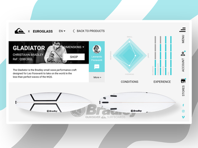 Quiksilver x Enroglass Marketplace marketplace product page ocean surf ecommerce userinterface branding homepage webdesign prototyping design ux ui desktop