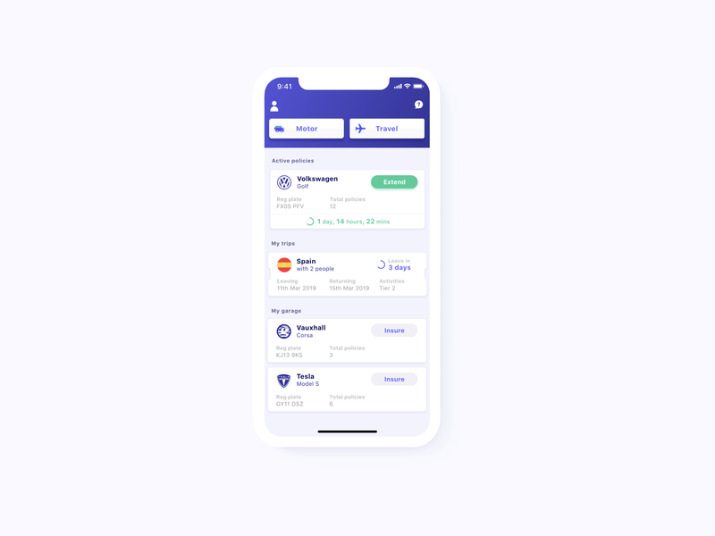 One feed for insurance typography hiring fintech insurance travel flat cards ui clean app design clean app table simple clean vector ux ui design app iphone