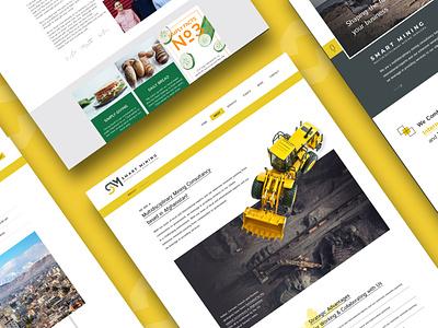 Smart Mining Website mobile website logo ui website designing branding website web design web ux design
