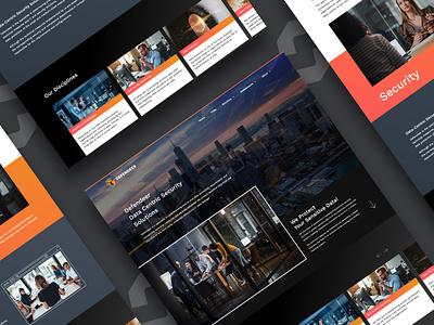 Defender Website weblayout website design datasecurity ui mobile website branding website web design