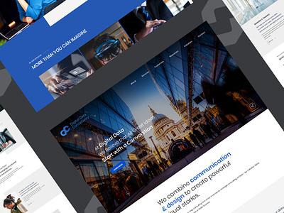DDC UK Website ui mobile website website designing branding website web design web ux design