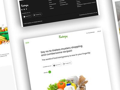 Food In Joy website designing mobile website web design design web website design website food tech