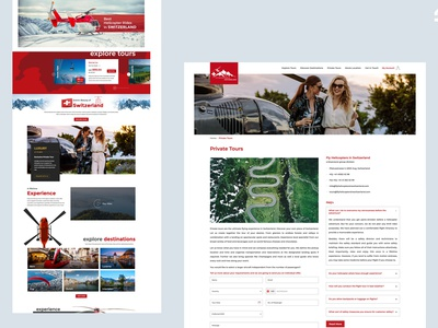 Fly Helicopters in Switzerland logo website designing mobile website web design website web design tourism website switzerland helicopters flying tourism helicopter