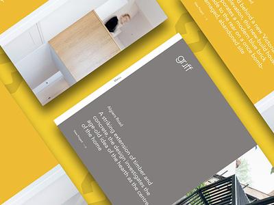 Architect Website ui website designing mobile website branding web design website ux web design architecture architect website architect