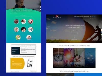 Akhandjyoti mobile website website design ui branding ux web design application design application eye health eye healthcare hostipal