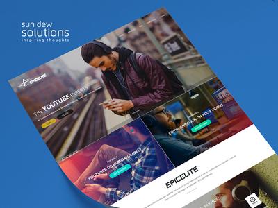 Epic Elite Website web ux design