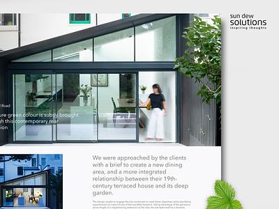 Website design for Architects flat branding website web design web ux design