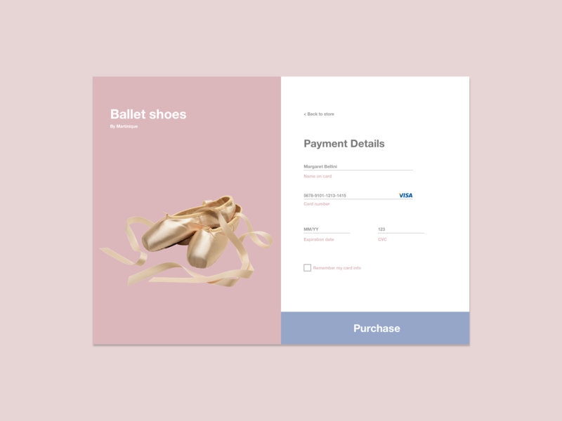 Daily UI 002 - Credit Card Checkout web design ux ui desktop design webdesign dailyuichallenge dailyui 002 dailyui pastels
