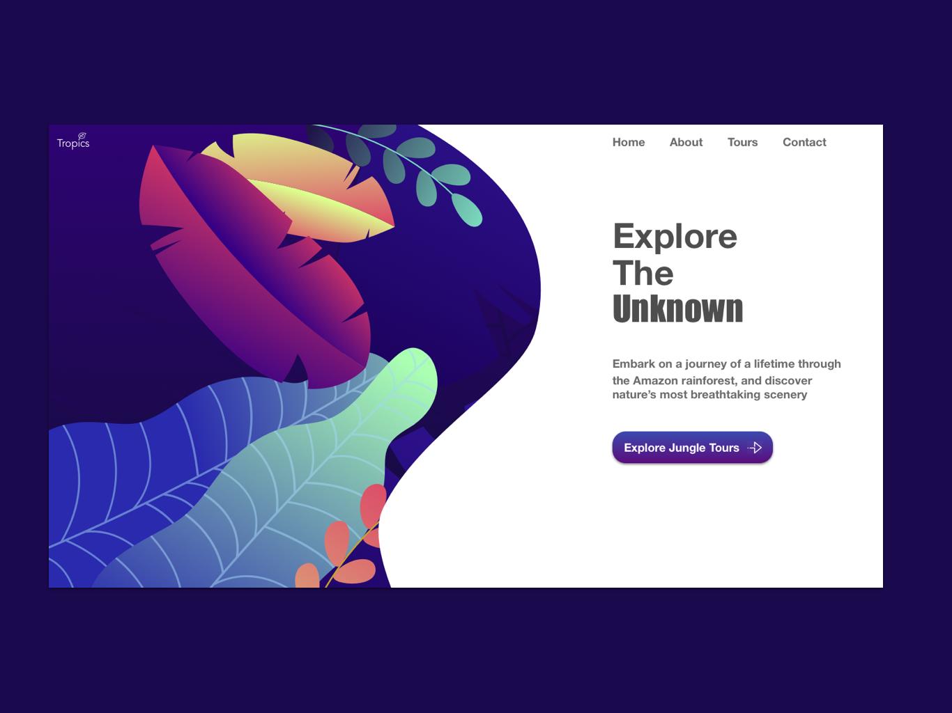 Welcome to the Jungle | Daily UI 003 web branding illustration webdesign desktop design daily 100 challenge dailyui003 ux ui design dailyui