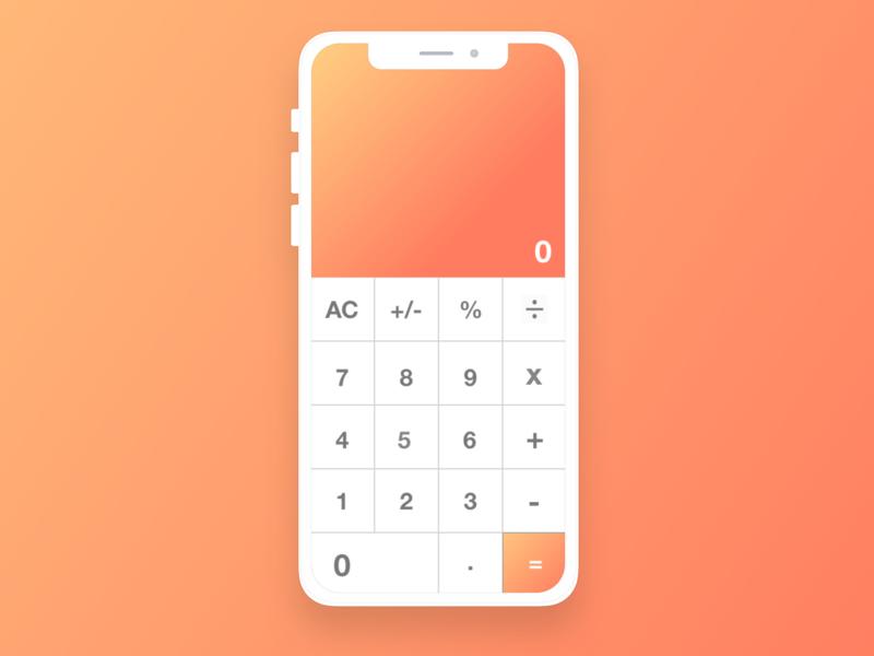 Calculator | Daily UI 004 pantone webdesign daily 100 challenge ux ui design dailyui