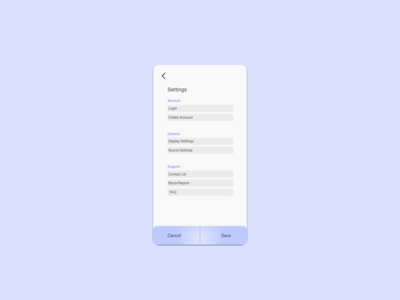 Daily UI #007 | A Settings Page