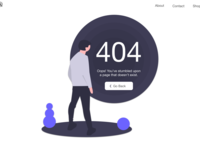 404 Page | Daily UI 008