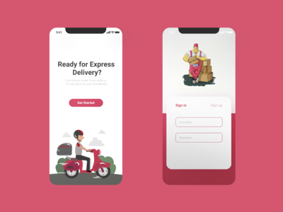 Delivery App Sign in Page