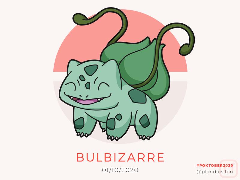 Bulbizarre - Poktober 2020 first one un draw drawing october challenge illustration illustrator bulbazaur bulbizarre pokemon art pokemon poktober poktober2020